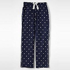 Lands' End - Blue women's flannel patterned pyjama bottoms