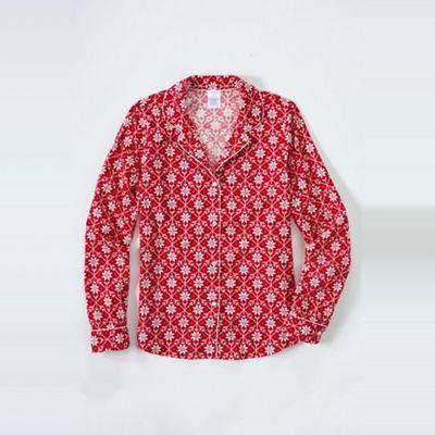 Lands End Pink patterned flannel pyjama shirt