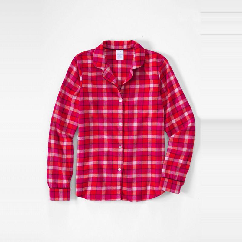 Lands End Red patterned flannel pyjama shirt