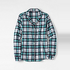 Lands' End - White women's patterned flannel pyjama shirt
