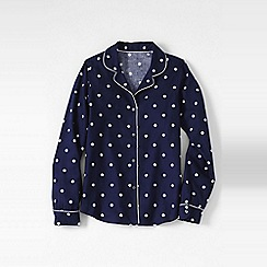 Lands' End - Blue patterned flannel pyjama shirt