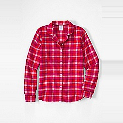 Lands' End - Red petite patterned flannel pyjama shirt