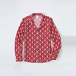 Lands' End - Pink women's patterned flannel pyjama shirt