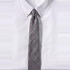 Lands' End - Grey men's glen plaid hand-sewn silk tie