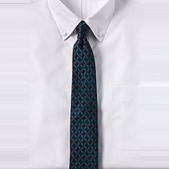 Lands' End - Green men's holly silk tie