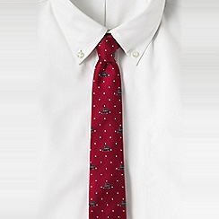 Lands' End - Red men's lands' end taxi silk tie