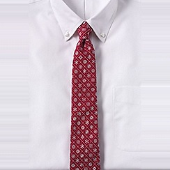 Lands' End - Red men's snowflake hand-sewn silk/wool tie
