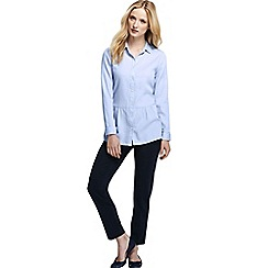 Lands' End - Blue women's drop waist cotton tunic