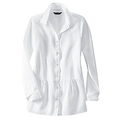 Lands' End - White women's drop waist cotton tunic