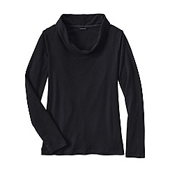 Lands' End - Black french terry cowl neck jumper