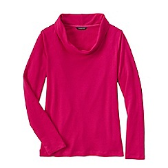 Lands' End - Pink women's french terry cowl neck jumper