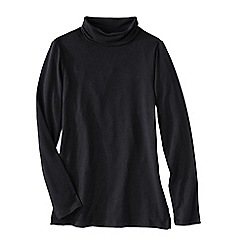 Lands' End - Black women's roll neck tunic