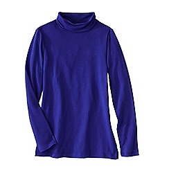 Lands' End - Purple women's roll neck tunic