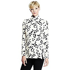 Lands' End - Black roll neck print tunic
