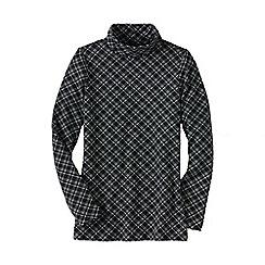 Lands' End - Black plus roll neck print tunic