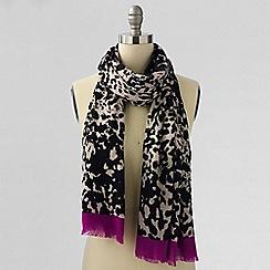 Lands' End - Brown cheetah border scarf