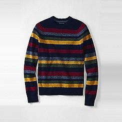 Lands' End - Blue striped lambswool sweater