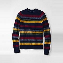 Lands' End - Blue men's striped lambswool sweater