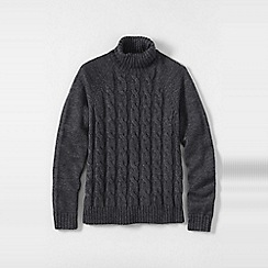 Lands' End - Grey men's wool/alpaca roll neck sweater