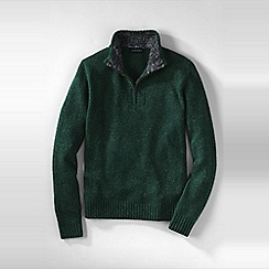Lands' End - Green men's half-zip donegal sweater