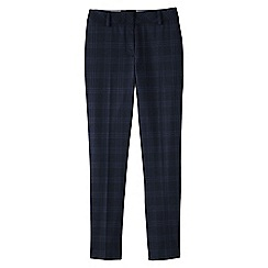 Lands' End - Blue women's wear to work mid rise slim leg trousers