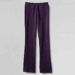 Lands' End - Purple girls' bootcut yoga pants
