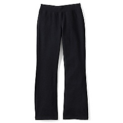 Lands' End - Black girls' bootcut yoga pants
