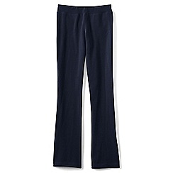Lands' End - Blue girls' bootcut yoga pants