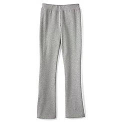Lands' End - Grey girls' bootcut yoga pants