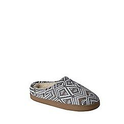 Lands' End - Multi women's fair isle knit slippers