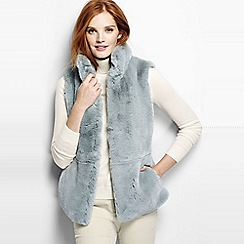 Lands' End - Grey faux fur gilet