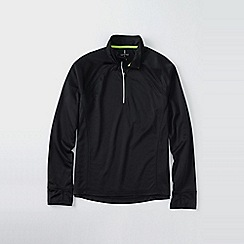 Lands' End - Black men's active half-zip top