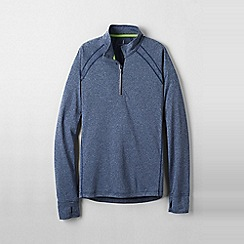 Lands' End - Blue men's active half-zip top
