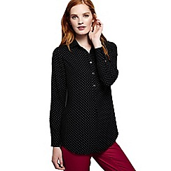 Lands' End - Black dressy patterned tunic