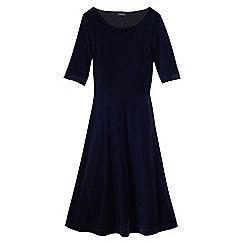 Lands' End - Blue women's velour boatneck dress