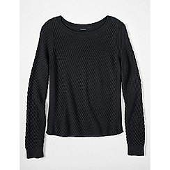 Lands' End - Black women's lofty boat neck jumper