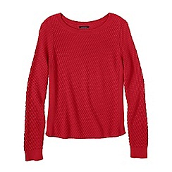 Lands' End - Red petite lofty boat neck jumper