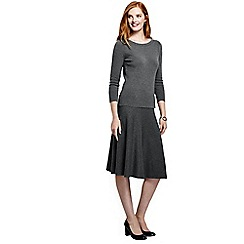 Lands' End - Grey women's supima 2-piece sweater dress