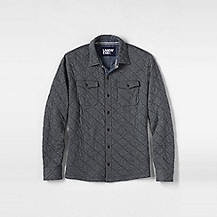 Lands' End - Grey men's quilted jersey shirt jacket