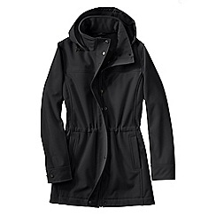 Lands' End - Black women's softshell parka