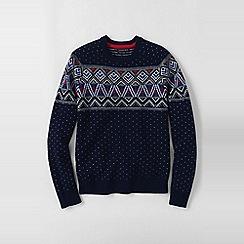 Lands' End - Blue men's fair isle lambswool sweater