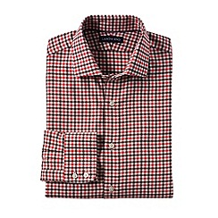 Lands' End - Red men's spread collar town country shirt
