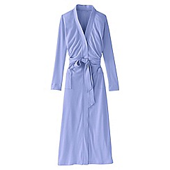 Lands' End - Purple women's regular cotton sleep-t dressing gown