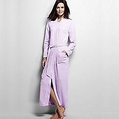 Lands' End - Purple women's regular cotton sleep-t dressing gown