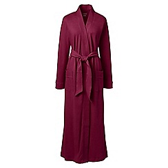 Lands' End - Red cotton sleep-t dressing gown