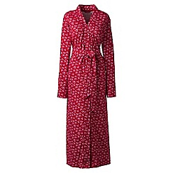 Lands' End - Red cotton sleep-t patterned dressing gown