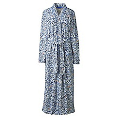 Lands' End - Cream cotton sleep-t patterned dressing gown
