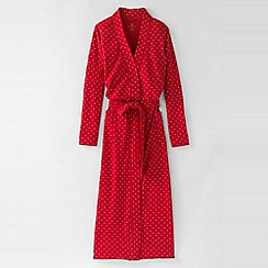 Lands' End - Red women's petite cotton sleep-t patterned dressing gown