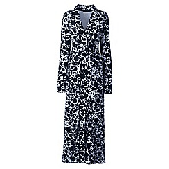 Lands' End - Blue cotton sleep-t patterned dressing gown