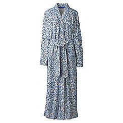 Lands' End - Cream plus cotton sleep-t patterned dressing gown